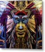 The Sioux Spirit - The Plumed Lion Metal Print