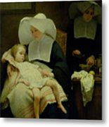 The Sisters Of Mercy Metal Print by Henriette Browne