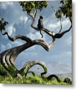 The Sitting Tree Metal Print
