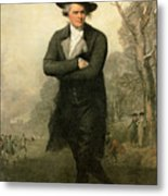 The Skater Portriat Of William Grant Metal Print by Gilbert Stuart