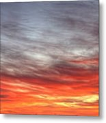 The Sky Is Smoking Hot In Widescape Metal Print