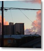 The Sky Over My Apartment Metal Print