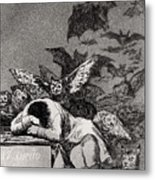 The Sleep Of Reason Produces Monsters Metal Print by Goya
