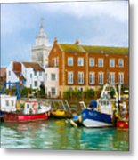 The Small Fishing Port Metal Print by Trevor Wintle