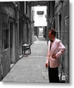 The Smoking Man In Venice Metal Print