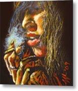 The Smoking Senorita Metal Print