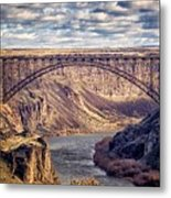 The Snake River At Twin Falls Idaho Metal Print