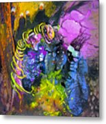 The Snake The Rose And The Black Angel Metal Print