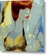 The Snow Bunny Metal Print