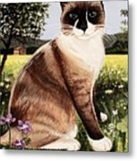 The Snowshoe Cat Metal Print