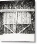 The Snowy Barn II Metal Print