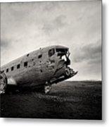 The Solheimsandur Plane Wreck Metal Print