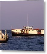 The Sonny S Ferry Docking At Middlebass Island Metal Print
