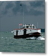 The Sonny S Returning From Lonz Winery On Middle Bass Island Metal Print
