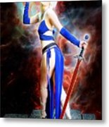 The Sorceress And The Sword Metal Print