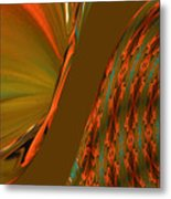 The Space Between Two Forces Abstract Metal Print