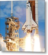 The Space Shuttle Discovery And Its Seven Metal Print