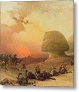 The Sphinx At Giza Metal Print by David Roberts