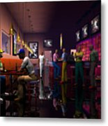 The Sport's Bar Metal Print by Walter Oliver Neal