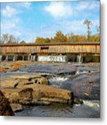 The Square Dance Venue Watson Mill Covered Bridge Metal Print