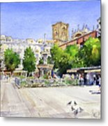 The Square In Summer Metal Print