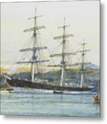 The Square-rigged Australian Clipper Old Kensington Lying On Her Mooring Metal Print