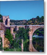 The St. Martin Bridge Over The Tagus River In Toledo Metal Print