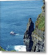The Stack And The Jack B Cliffs Of Moher Ireland Metal Print
