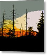 The Stained Glass Forest Metal Print