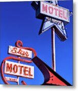 The Star Motel Metal Print