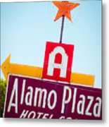 The Star Of Alamo Plaza Metal Print