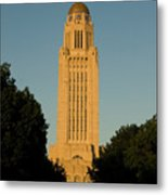 The State Capitol Building In Lincoln Metal Print
