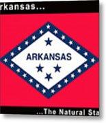 The State Flag Of Arkansas Metal Print