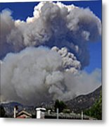 The Station Fire Panoramic Metal Print