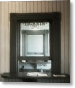 The Stationmaster's Window Metal Print
