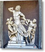 The Statue Of Laocoon And His Sons At The Vatican Museum Metal Print