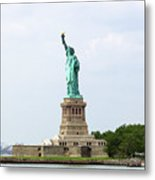 The Statue Of Liberty In New York City Metal Print