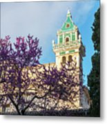 The Steeple Of The Valldemossa Charterhouse In Spring Metal Print