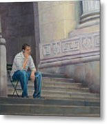 The Steps To The Humanities Metal Print
