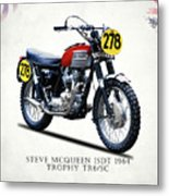 The Steve Mcqueen Isdt Motorcycle 1964 Metal Print