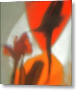 The Still Life With The Shadows Of The Flowers. Metal Print