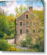 The Stone Mill In Spring Metal Print