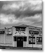The Stone Pony Asbury Park New Jersey Black And White Metal Print