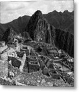 The Stonework Of Machu Picchu Metal Print