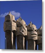 The Strangely Shaped Rooftop Chimneys Metal Print
