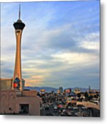 The Stratosphere In Las Vegas Metal Print