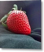 The Strawberry Portrait Metal Print