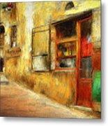 The Street  -- Original Painting Metal Print