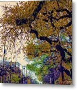 The Street Trees Metal Print