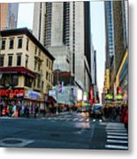 The Streets Of New York Metal Print